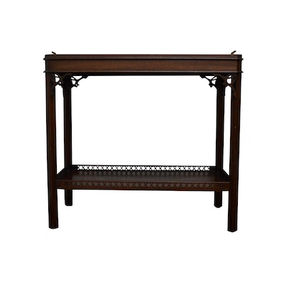 Mahogany Accent Table, Contemporary