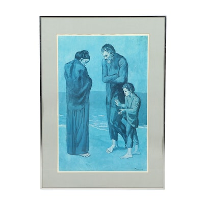 """Offset Lithograph after Pablo Picasso """"The Tragedy"""""""