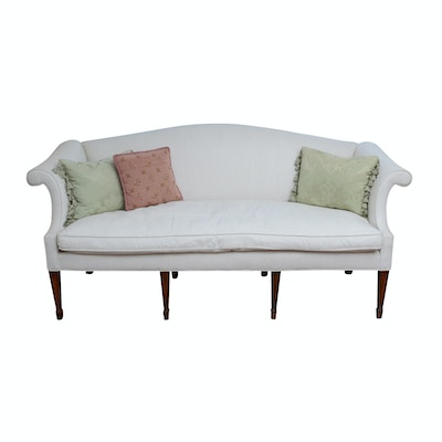 "Henredon ""Natchez"" Linen and Down Loveseat, Contemporary"