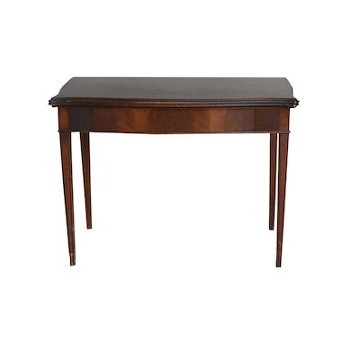 Mahogany Flip Top Game Table, Mid-20th Century