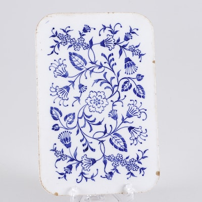 Hand-Painted Dutch Delftware Tile, Mid 18th Century