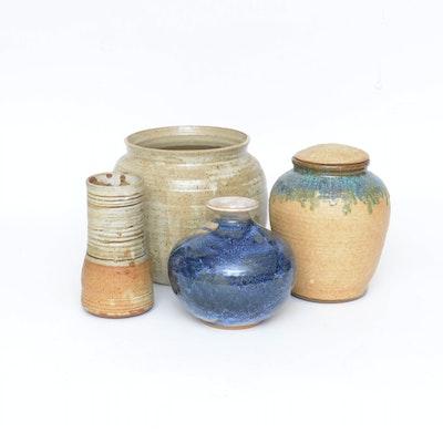 Thrown Stoneware Vases
