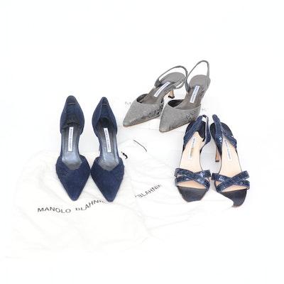 Manolo Blahnik Slingbacks, Sandals, and D'Orsay Heels
