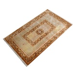 Power Loomed Chinese Sculpted Wool and Artificial Silk Accent Rug