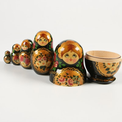 Russian Hand-Painted Matryoshka Dolls