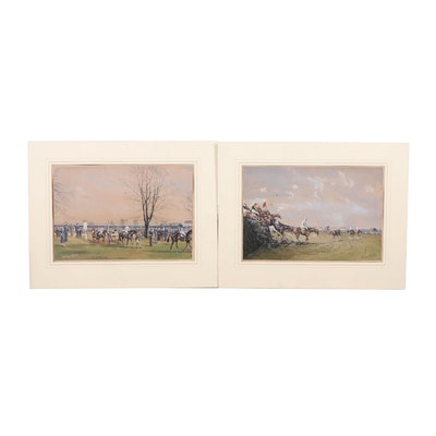 Graham Smith Gouache Paintings of The Grand National Derby