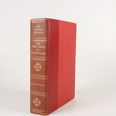 """1968 Facsimile """"The First Folio of Shakespeare"""" Prepared by Charlton Hinman"""