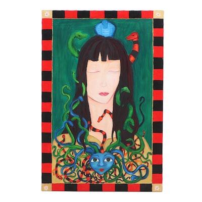 "Christine Fletcher Oil Portrait ""Athena Sleeping"""