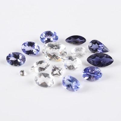 Loose 4.70 CTW Topaz 4.25 CTW Tanzanite 1.90 Iolite 0.60 CTW Quartz Gemstones