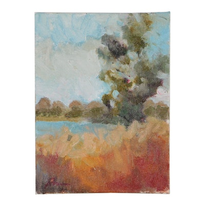 "Sally Rosenbaum Landscape Oil Painting ""Oak"""