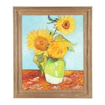 "Copy Oil Painting After Vincent van Gogh's ""Vase with Twelve Sunflowers"""