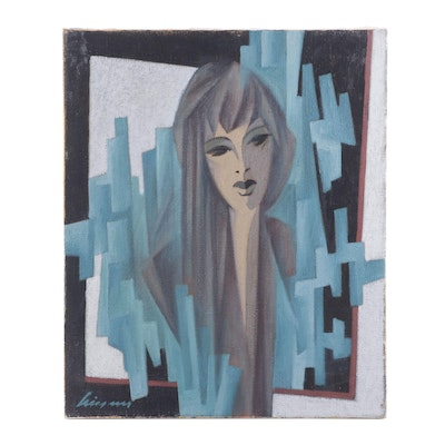 Abstract Figural Oil Painting