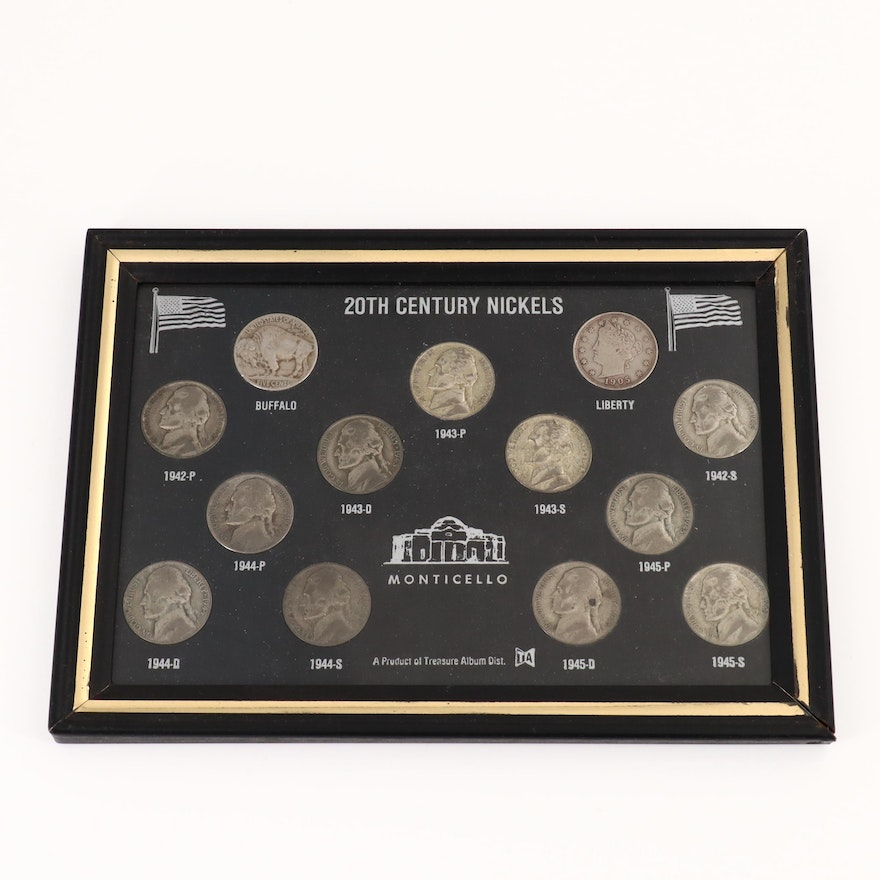 20th Century Nickel Collection Including Thirteen Coins | EBTH