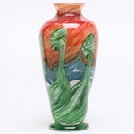 Barrie Bredemeier Custom Hand Blown Glass Vase, Contemporary