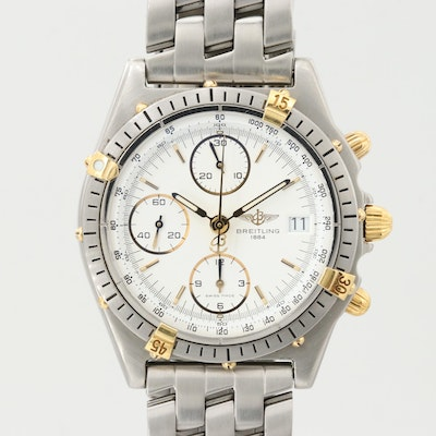 Breitling Chronomat Stainless Steel and 18K Gold Automatic Wristwatch