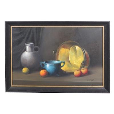 A. Van Dorp Still Life Oil Painting