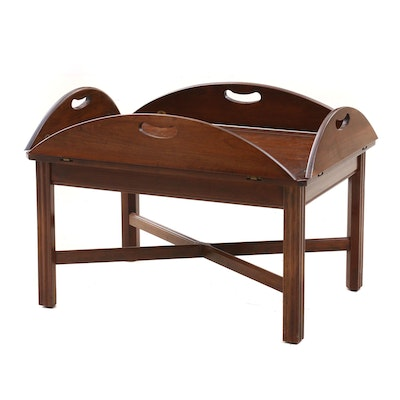 Butler's Serving Tray Table in Mahogany, Mid to Late 20th Century