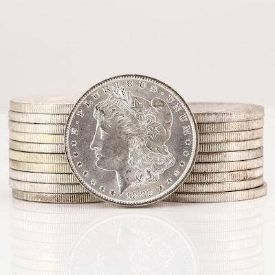 Roll of Twenty Uncirculated 1885-O Silver Morgan Dollars