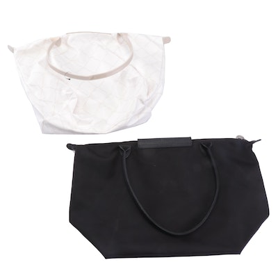 Longchamp Nylon and Leather Trim Tote Bags
