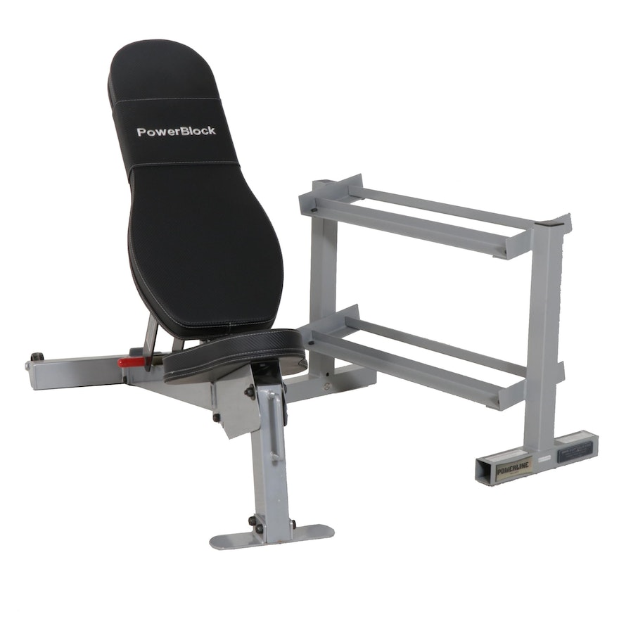 Power Block Sport Bench And Body Solid Dumbell Rack Ebth