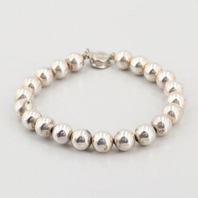 Vintage Sterling Silver Beaded Bracelet