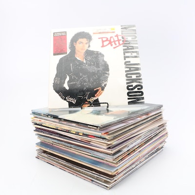 1970s and 80s Vinyl Records including Michael Jackson and Curtis Mayfield
