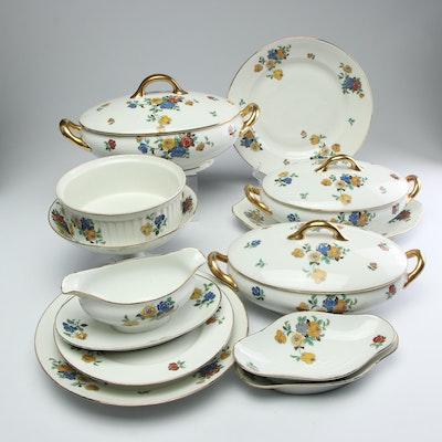 E. Madesclaire Jeune Porcelain Serveware, Circa 1930s