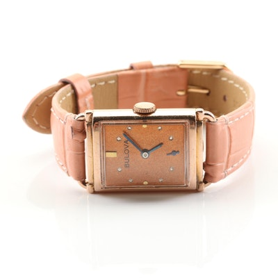 Bulova Rose Tone Wristwatch