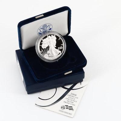 2008-W One Dollar U.S. Silver Eagle Proof Coin
