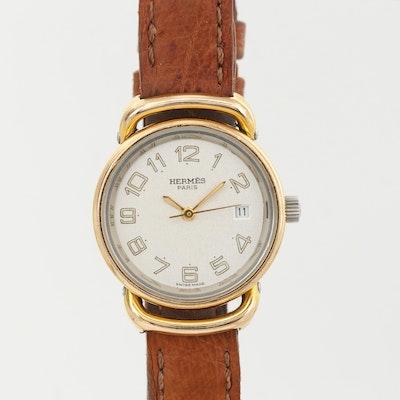 Hermès Arceau Pullman Stainless Steel Quartz Wristwatch With Date Window