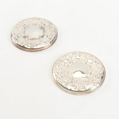 "Towle ""Beauty Marks"" Sterling Silver Mirror Compacts"