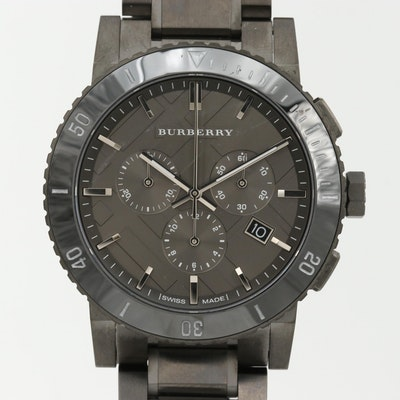 Burberry Stainless Steel Chronograph Wristwatch With Date
