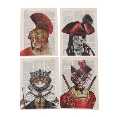 "Matthew Dinneman Giclee Prints ""Cleverly Costumed Cats"""