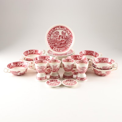 "Spode ""Tower Pink"" Ironstone Dinnerware"