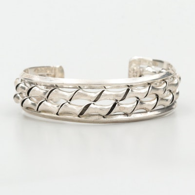 Mexican Sterling Silver Cuff Bracelet