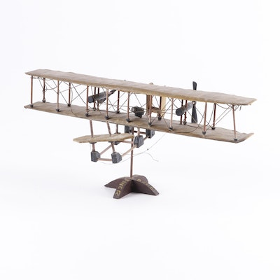 Wright Brothers 1903 Model Biplane, Early 20th Century