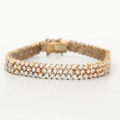 Sterling Silver Glass Tennis Bracelet