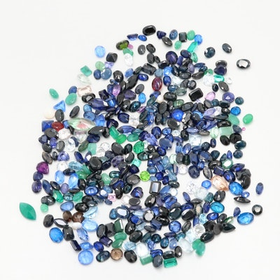 Loose 290.16 CTW Mixed Gemstones Including Sapphire, Emerald and Simulants