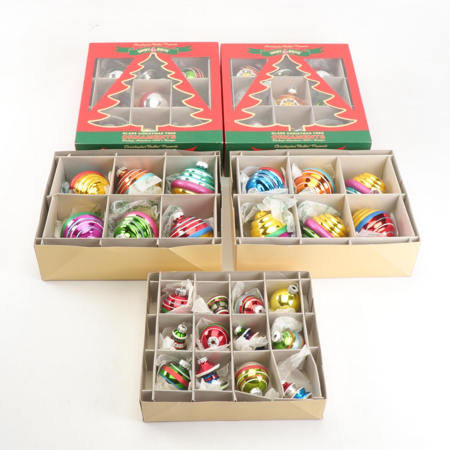 Christopher Radko Shiny Brite Christmas Ornaments