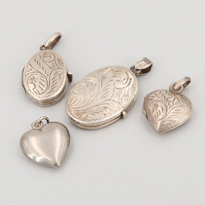 Vintage Sterling Silver Locket Pendant