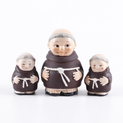 """Goebel """"Friar Tuck"""" Porcelain Condiment Set"""