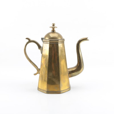 Brass Tone Coffee Pot