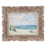 Oil Painting of a Beach Scene