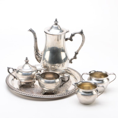 Assorted Coffee Service Set Including International Silver and 1847 Rogers Bros.