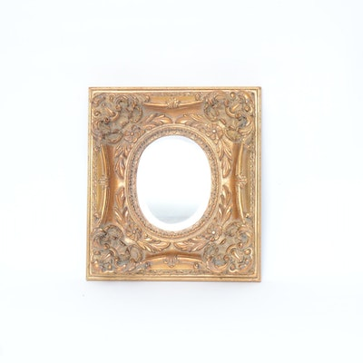 Rococo Style Giltwood Beveled Mirror