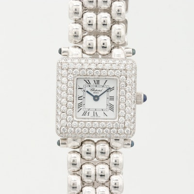Chopard Les Classique 1.92 CTW Diamonds, Sapphire and 18K Gold Quartz Wristwatch