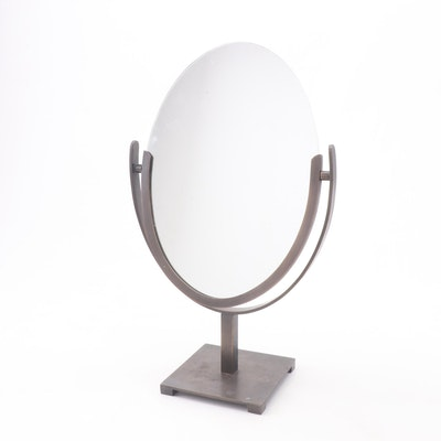 Bronze Tone Dual-Sided Pivoting Vanity Mirror