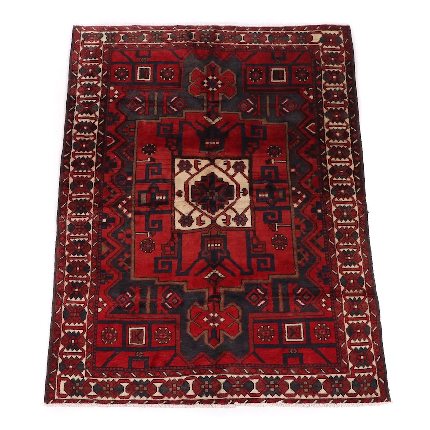 Hand-Knotted Caucasian Wool Rug