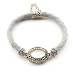 Ecclissi Sterling Silver and Marcasite Wristwatch