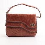 Everglades Trading Co. Caiman Skin Handbag, Vintage